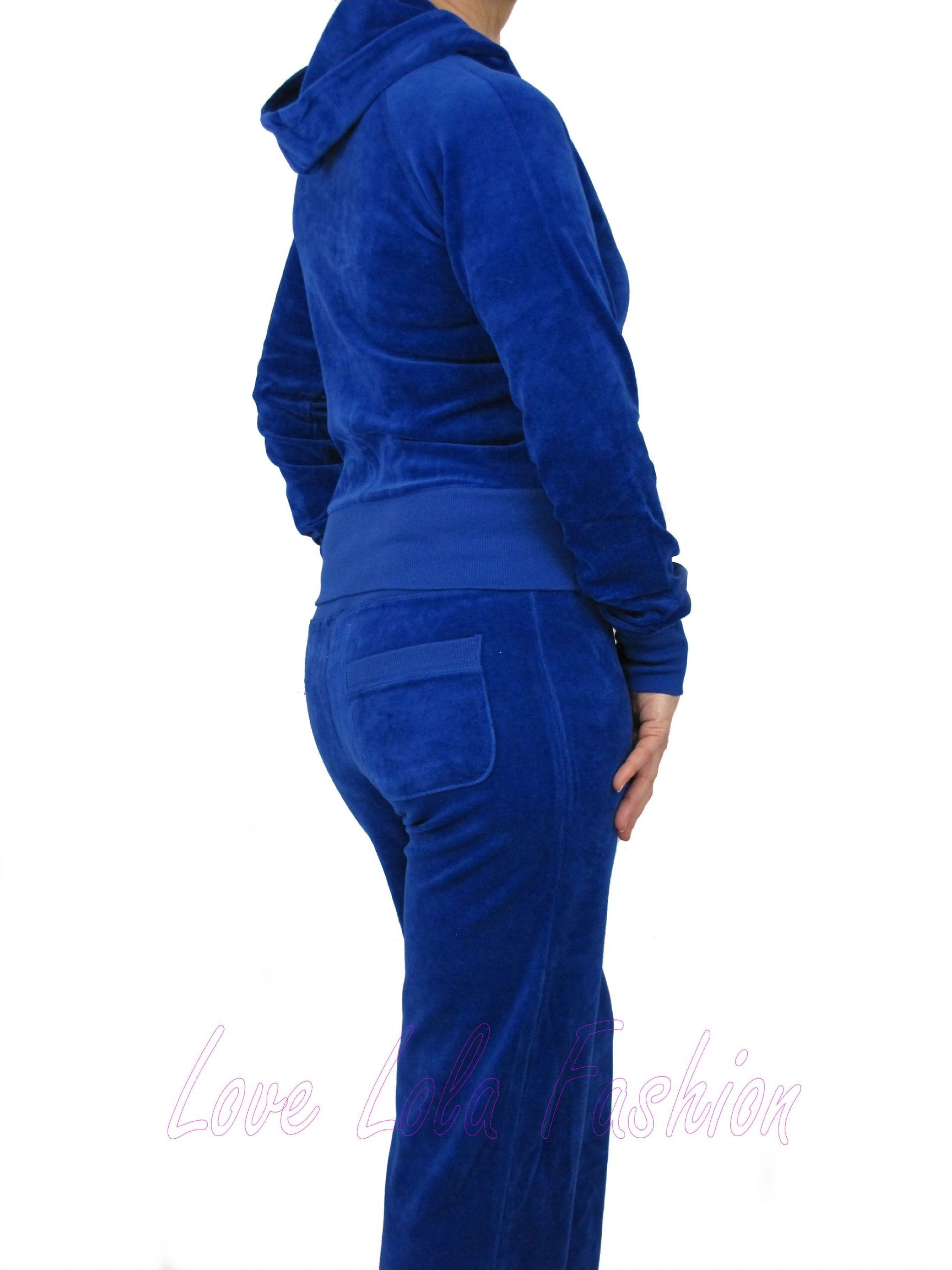 4f26f4f243d Love Lola Womens Velour Tracksuits Royal Blue